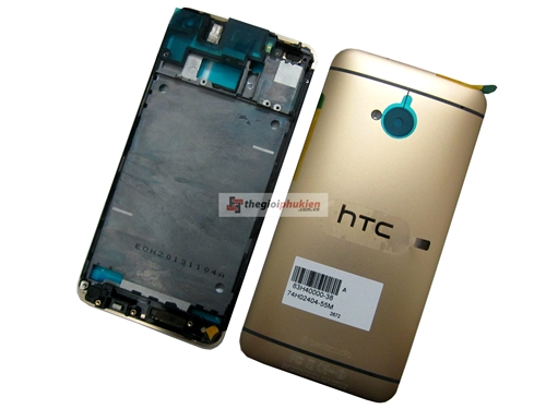 vỏ htc one M7 gold