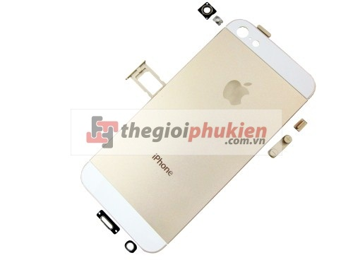Vỏ iPhone 5 gold champagne