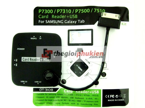 Samsung P7500 Kit 5 in 1 (3 Hub OTG + All Card reader )