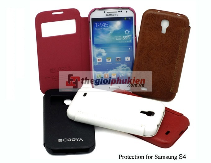 Bao da Samsung S4 - i9500 Cover View Cooya