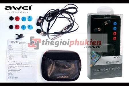 Tai nghe AWEI ES600i cho HTC/Samsung/Nokia/iPhone