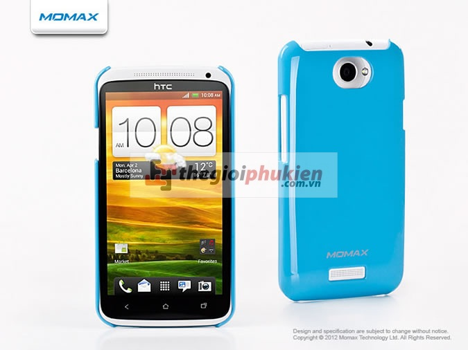 Ốp lưng HTC One X Blue - Momax Ultra Thin Soft Touch